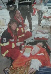 Bei der Kathastrophenschutz-Übung gab es Verletzten-Darsteller, die von den Rettungskräften versorgt werden mussten. Bild: Paul